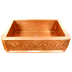 Hand hammered mexican style copper sinks-