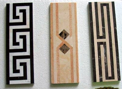 Laminated Pattern Tiles Border China Granite Countertop Vanitytop